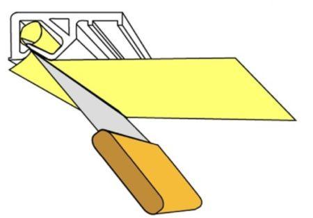 Бескулачковый зажим багета для тканевых потолков