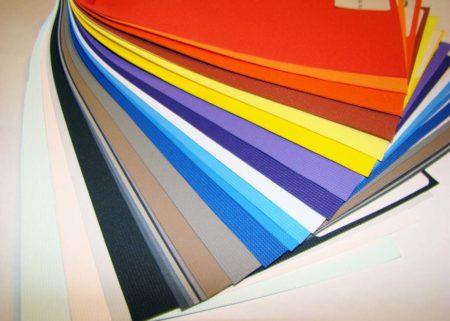 Образцы пленочных покрытий разного цвета