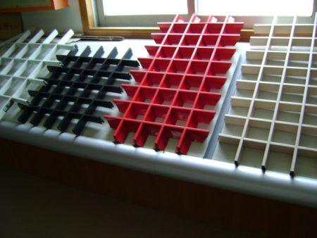 Ячеистые модули кассетных потолков