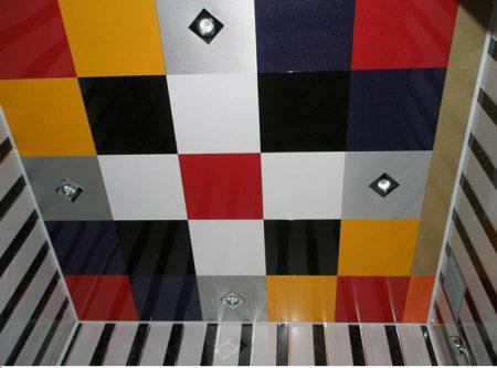Модульный потолок в ванной