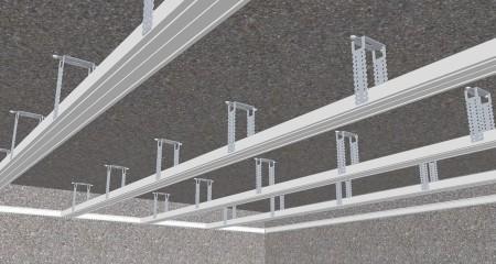 Установка профиля для подвесной конструкции потолка