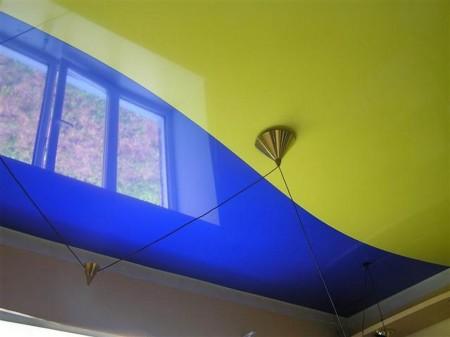 Комбинированный способ крепления потолочной пленки