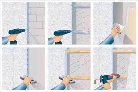 Различные способы монтажа пластиковых плит, с обрешеткой и на стены