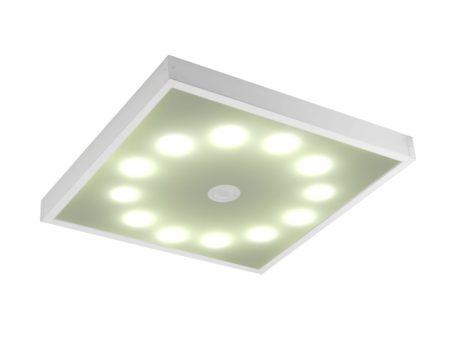 Интересная модель потолочного светильника с нестандартным расположением ламп