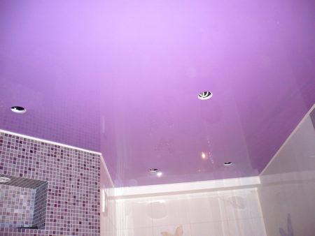 Натяжной потолок в жилом доме