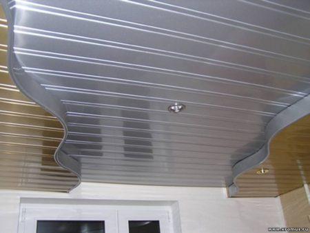 Реечный модульный потолок